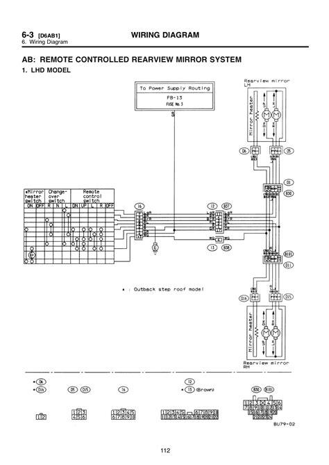 sl power mirror switch wiring diagram