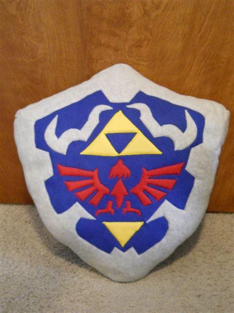 zelda pattern fleece legend of zelda oot shield pillow by kmrsworld734 on