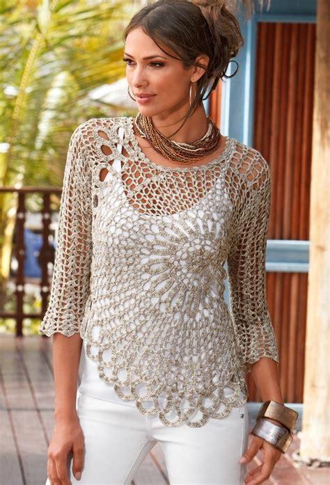 Free Crochet Pattern Ladies Jersey   patrones crochet