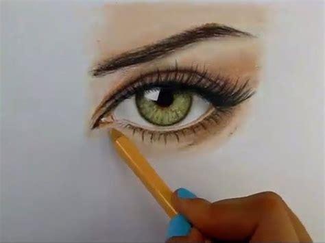 imagenes de ojos con flores tutorial c 243 mo dibujar ojos con l 225 pices de colores youtube