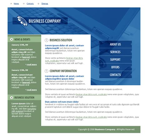 career template business career website template 3286 clean