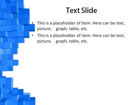 blue cubes powerpoint template for impressive presentation