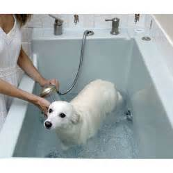pet bathtub composed of faucet and shower suitable