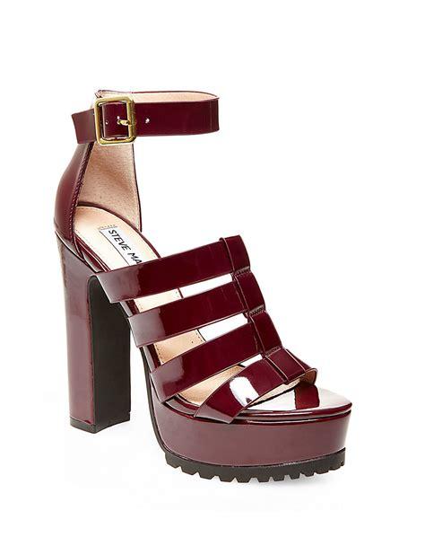 steve madden purple sandals steve madden groove faux leather caged platform sandals in