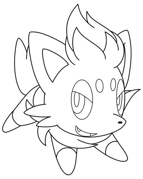 pokemon coloring pages zorua lineart zorua by kizarin on deviantart