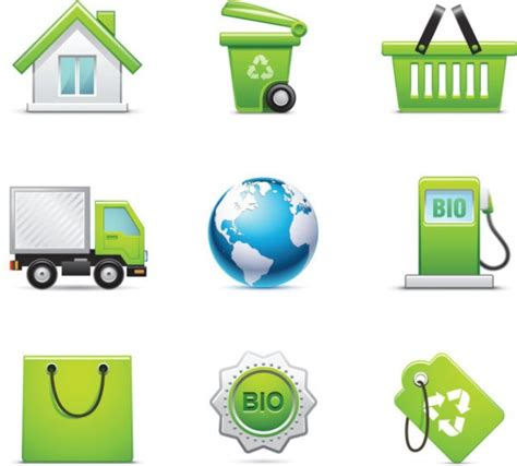 Greeny Set greeny icons vector set der kostenlosen vektor