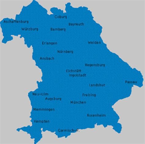 map of germany with major cities visit and explore bavaria tourism travel guide