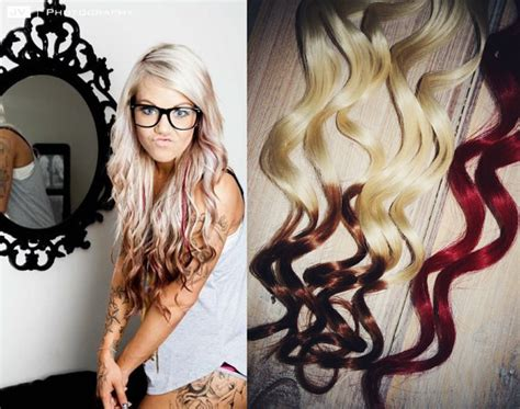 reverse ombre hair extensions valentine s day reverse ombre hair extensions two