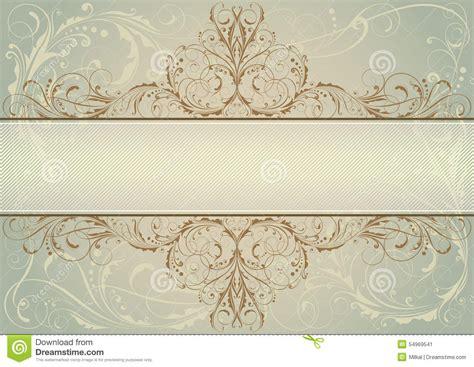 label design background swirl floral background label stock vector image 54969541