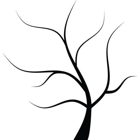 simple leafless tree outline www pixshark com images