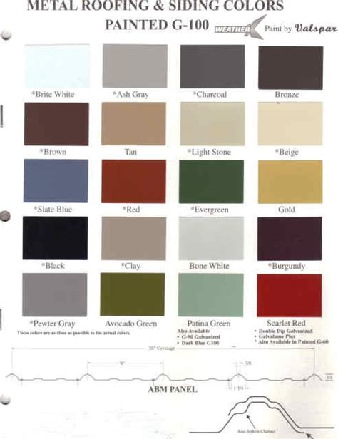 metal roof metal roof colors valspar