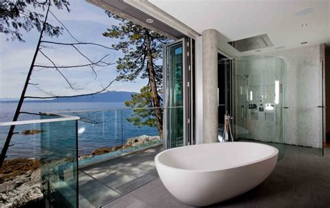 bathroom wallpaper canada bathroom views glass wall pender harbour house in