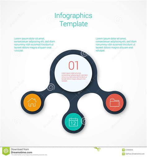 infographic flowchart template gallery templates design
