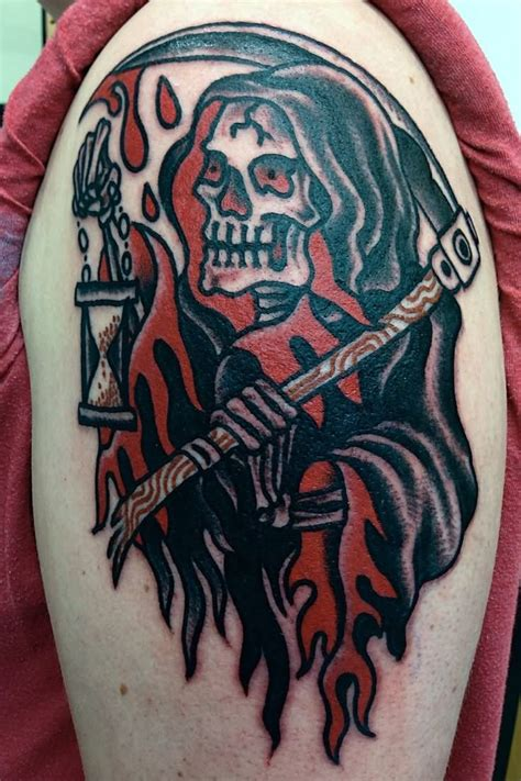 grim reaper traditional tattoo 13 traditional tattoos