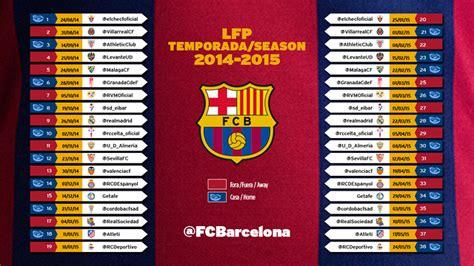 Calendario Chions League 2014 15 エルチェ 2014 15年リーグの初戦 Fc Barcelona