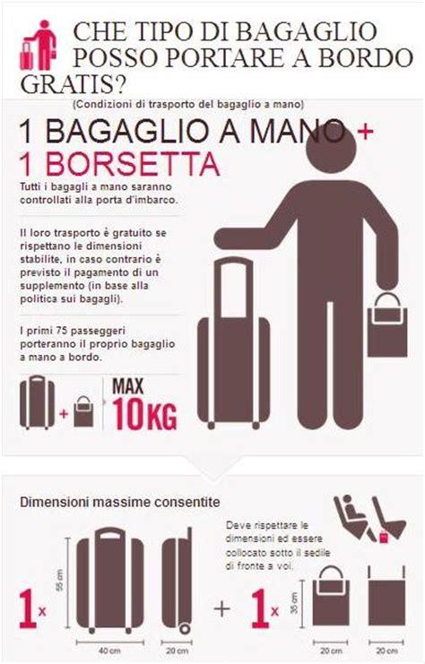 quanti bagagli si possono portare con alitalia bagaglio a mano volotea tutte le regole su peso e