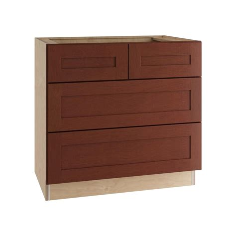 4 Drawer Base Kitchen Cabinet by Hton Bay Cambria Assembled 36x34 5x24 In Base Kitchen