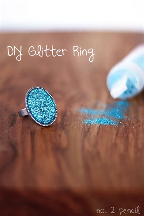 No Glitter No Theitlistscom by Diy Glitter Ring With Mod Podge Dimensional Magic No 2