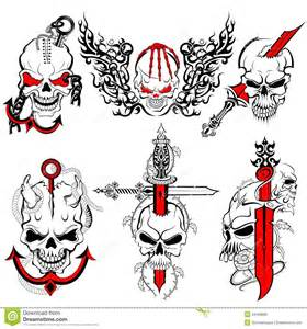 skull tattoo design stock vector image 44188885