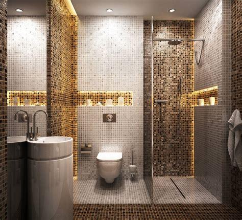 indogate salle de bain moderne avec mosaique