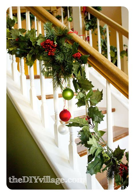 Banister Decorations For by Banister Garland The Diy