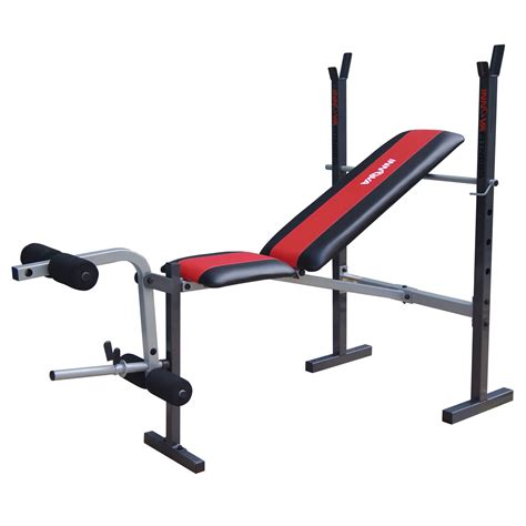 beginner weight bench set innova fitness wbx200 deluxe adjustable weight bench with bar holder and leg developer