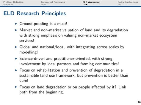 Joachim Von Braun Quot Economic And Social Impacts Of Land Degradation A Eld Policy Template