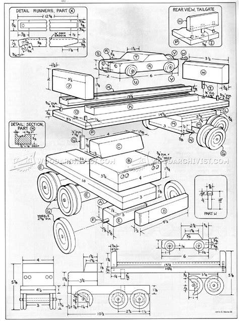 wooden toy car carrier plans woodarchivist