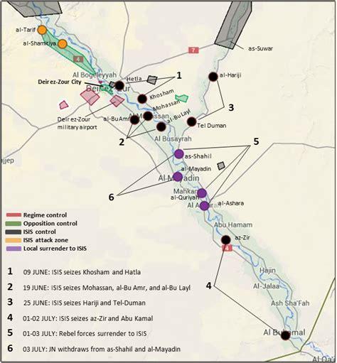 deir ez zor map islamic state of iraq and al sham yalla souriya