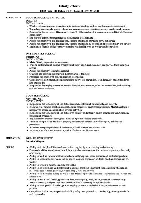courtesy clerk resume courtesy clerk resume sles velvet