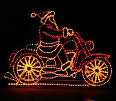 harley davidson motorcycle christmas lights santa on motorcycle with controller yard envy