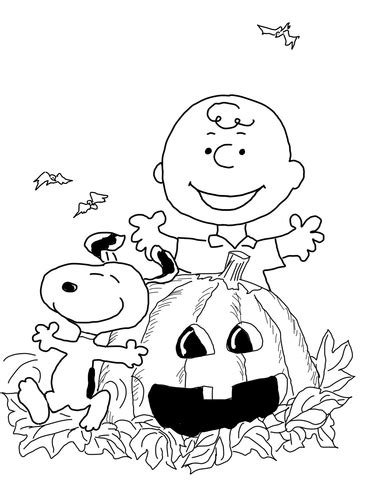 snoopy pumpkin coloring pages charlie brown halloween coloring page free printable