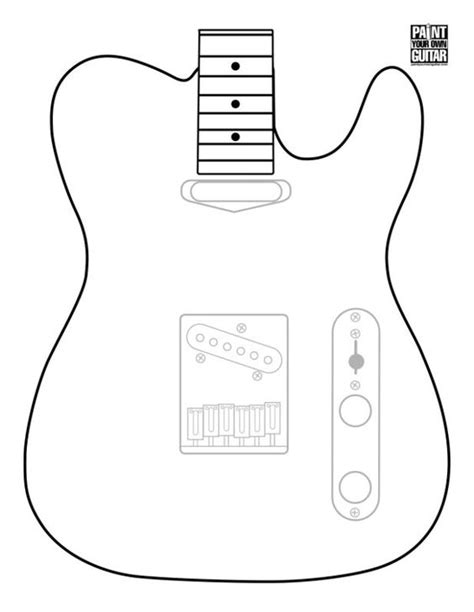 Telecaster Drawing At Getdrawings Com Free For Personal Use Telecaster Drawing Of Your Choice Humbucker Template Pdf