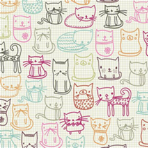 cute pattern cats the online home of uk doodler carrie lewis 187 cat