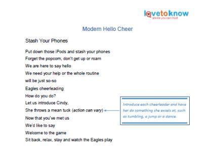 printable lyrics cheerleader printable hello cheers lovetoknow