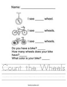 count the wheels worksheet twisty noodle