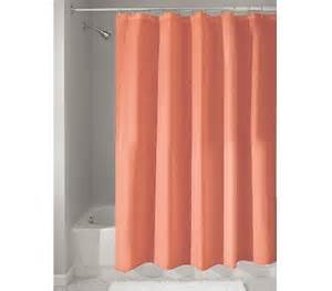 fabric shower curtain coral