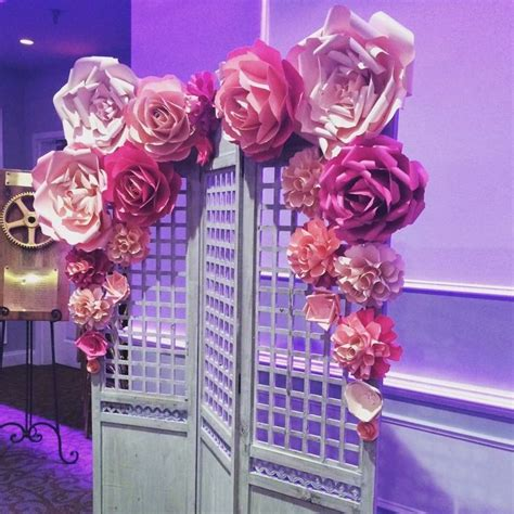 Wedding Backdrop Paper Flowers by 1000 Ideas About Paper Flower Wall On Paper