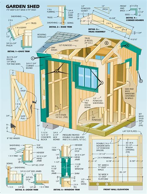 backyard blueprints shed plans 6 x 8 free garden shed plans explained shed