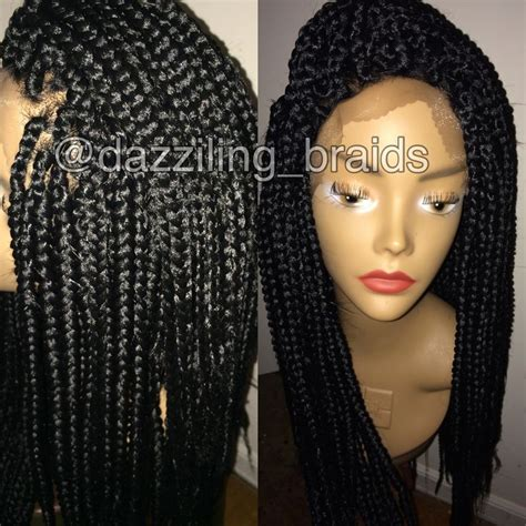 wigs to wear with braids lace front box braid wig braids 164 twist natural hair