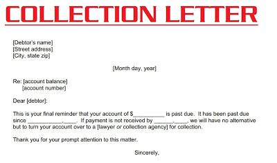 collection letter 3000
