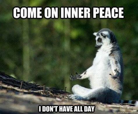 Funny Yoga Memes - the perfect inner peace meme whoever put this together