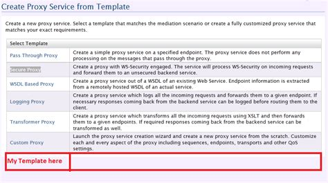 it service definition template wso2esb create proxy service from template wso2 esb