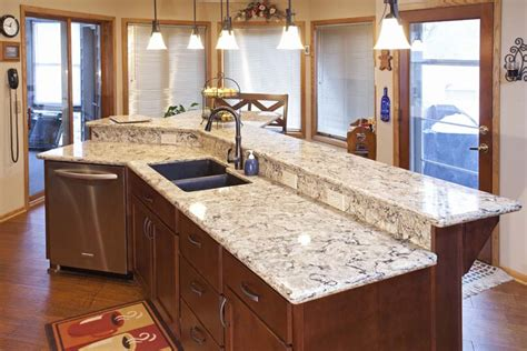 Countertops Mn by Burnsville Kitchen Remodel Cherry Wood Cabinetry