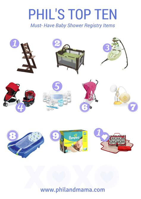 Parenting You Must Products For Busy by Top Ten Baby Shower Registry Must Items For The