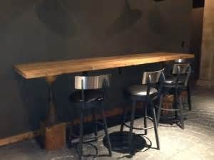 Wall Bar Table Industrial Style Tables With Reclaimed Wood Antique Woodworks