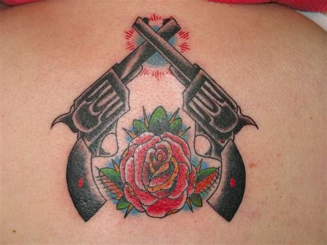 guns and roses tattoos pin lovely guns roses hugs erotisch tattoos ink hut