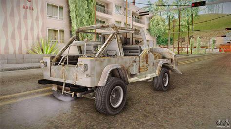 jeep wrangler style jeep wrangler mad max style para gta san andreas