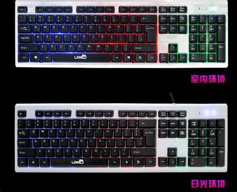 Keyboard Nyala Lokai 833 Gaming Keyboard Led With Mouse White Jakartanotebook