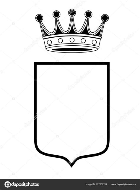 coat template coat of arms template new family shield template crown